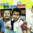 Preschool children of different races talking about diversity