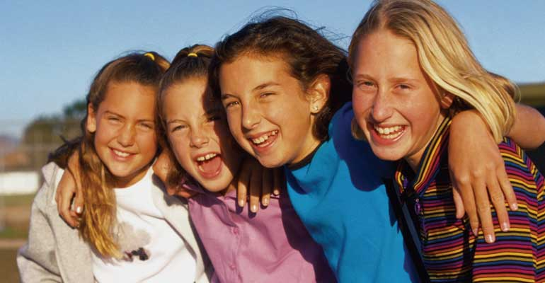 Friendships with other adopted children can help your child feel like she fits in