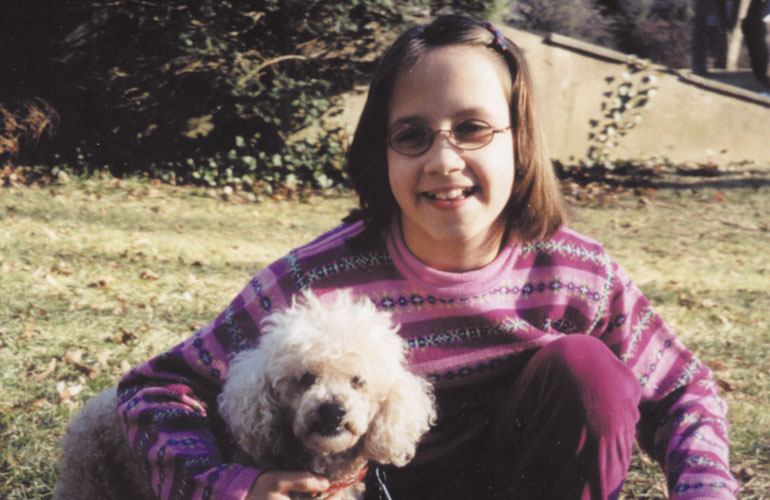 Adopting a dog helped this girl realize family is forever after being adopted at an older age