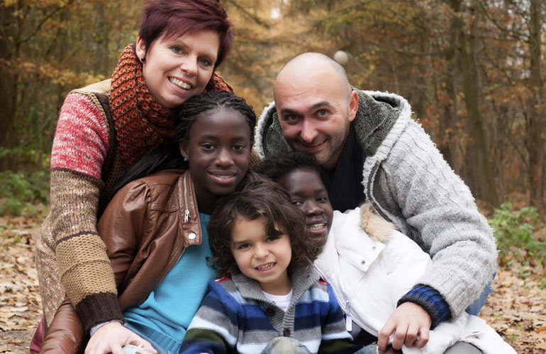One of many multicultural adoptive families