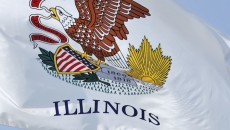 Flag of Illinois, where Illinois adoption laws apply