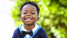A little boy whose parents taught him about race and racism
