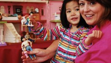 One mother builds a dollhouse family to reflect transracial adoptive families.
