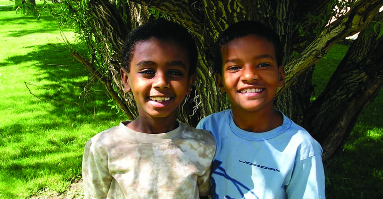 Two Ethiopian brothers