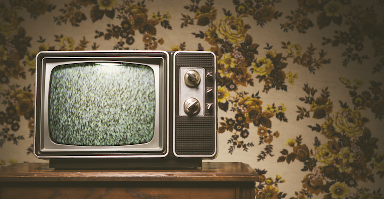 An old tv set, ready to play NBC's Parenthood