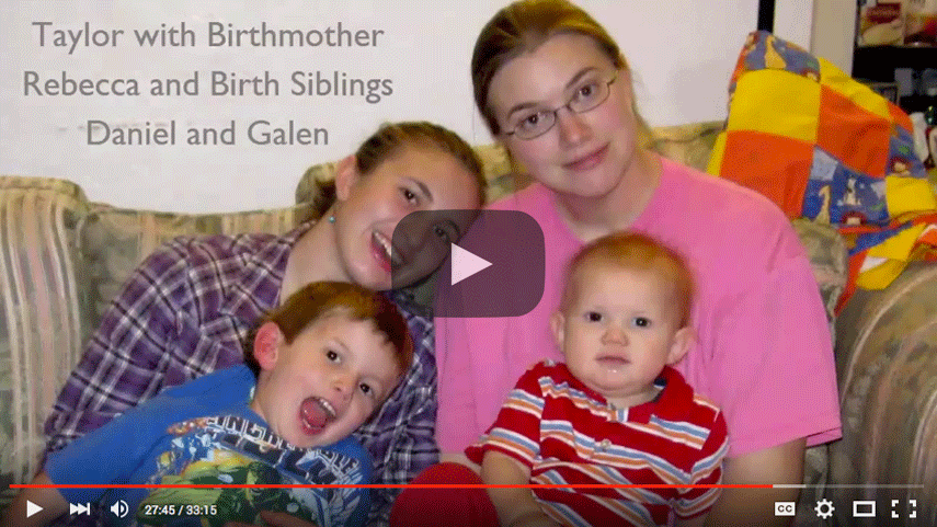 adoptees share their experiences in an open adoption video