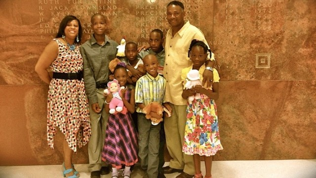 A happy family formed through the foster care process