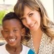 Jillian Lauren with her son, Tariku.