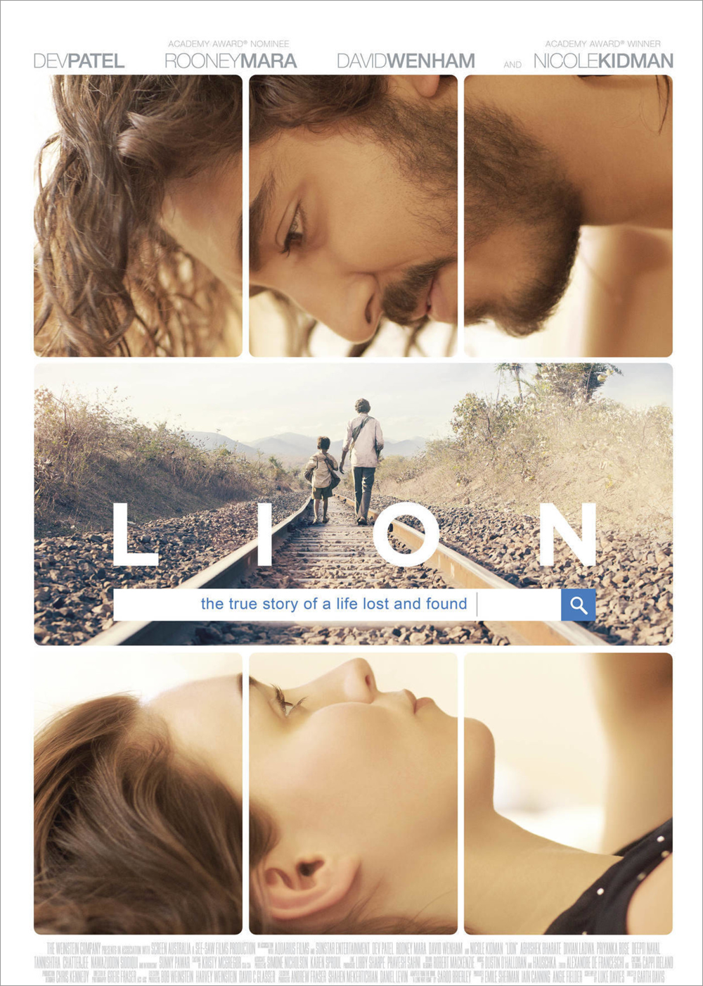full poster for the adoption movie Lion