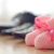 pink baby shoes help keep a spirits up during the wait to adopt