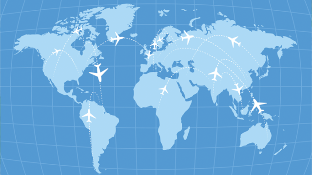 planes travel around the globe for international adoption, which continues to decline and face challenges