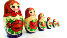 nesting dolls from Russia; though Russian adoption by U.S. citizens has been banned, Russian adoption is currently in the news