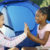 Two girls playing together and discussing racism at Pact Camp