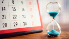 hourglass and calendar to measure how long it takes to adopt, how to respond when people ask