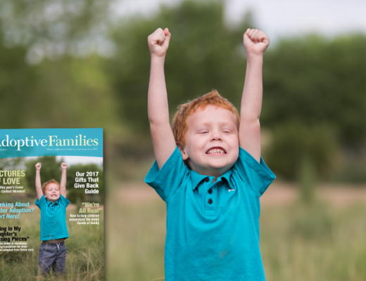 Enter Adoptive Families Cover Photo Contest - 2017 winner