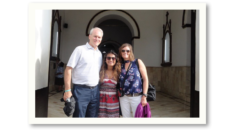 author Shelly Gill Murray with her husband and daughter on their trip to Colombia to meet their daughter's birth mother