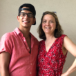 Author Shelly Roy with her adult son, 19 years after adoption